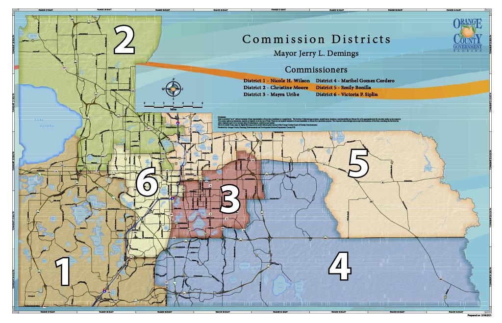 Distritos y Comisionados del Condado de Orange