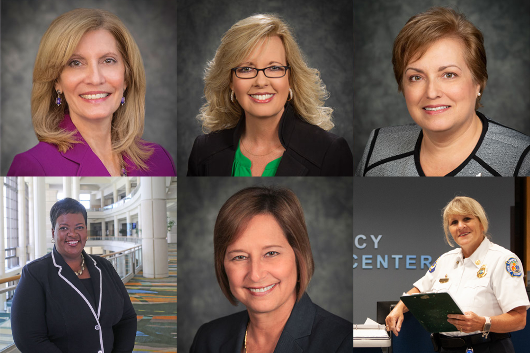 Collage of female employees appointed by Mayor Demings.