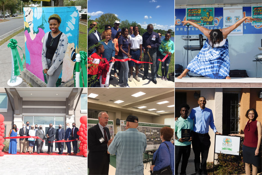 Photo collage of community activities