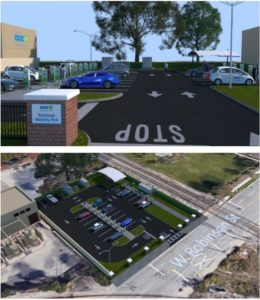 Rendering of the Electric Vehicle Mobility Hub